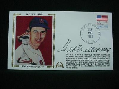 NobleSpirit NO RESERVE {3970} Valuable Ted Williams Autograph on Silk Cachet FDC