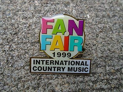 Vintage 1999 Fan Fair International Country music Lapel Pin  Hat pin Nashville