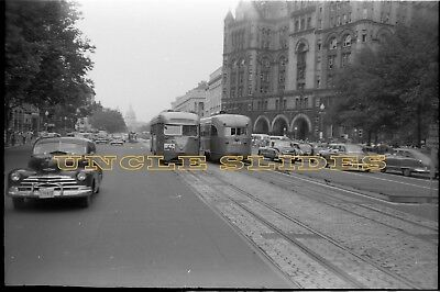 Original Trolley Negative Capital Traction Washington DC 1940's Cars 1265 & 1256