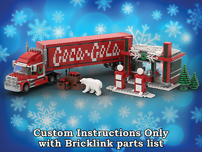 LEGO Winter Village Coca Cola Truck INSTRUCTIONS ONLY for LEGO Bricks Christmas