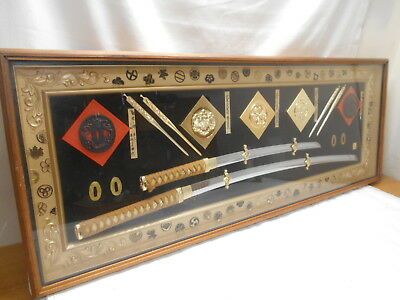 Japanese Vintage Display Wall Hanging Ornamental Sword Katana Tsuba Plaque #4