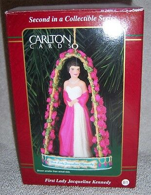1999 Carlton Cards Heirloom Collection First Lady Jacqueline Kennedy Ornament