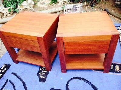 Bedside Tables Solid Heavy Wood
