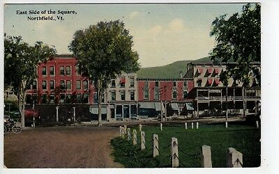 c1908 Northfield Vermont, East Side Of The Square