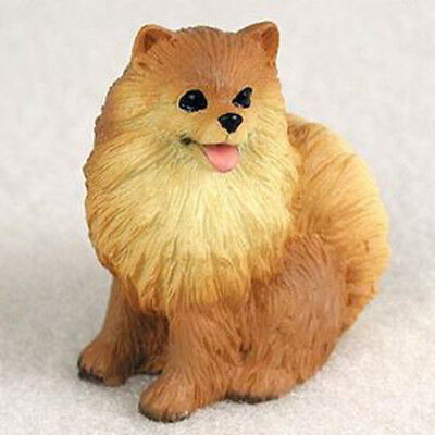 POMERANIAN (RED) TINY ONES DOG Figurine Statue Resin Pet Lovers