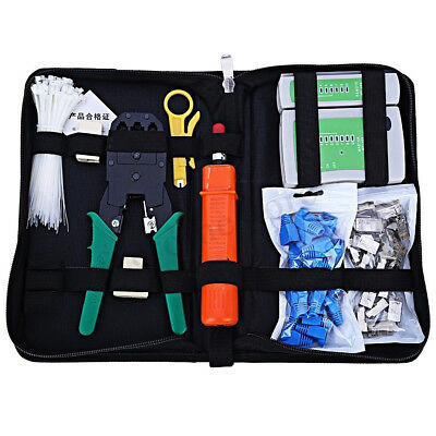 RJ11 RJ45 Cat5e Cat6 Network Ethernet LAN Kit Crimping Tool Cable Tester Crimper