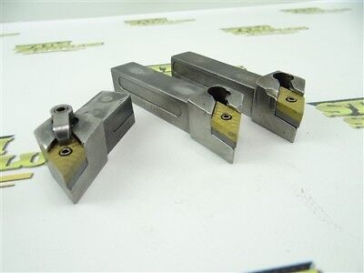 "Lot Of 3 Kennametal Indexable Tool Holders 3/4"" Shanks Ddjnr & Ddjnl"