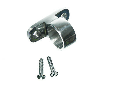 PACK 6 Sash Window Pole Lift Eye Plus Fixing & Screws Chrome