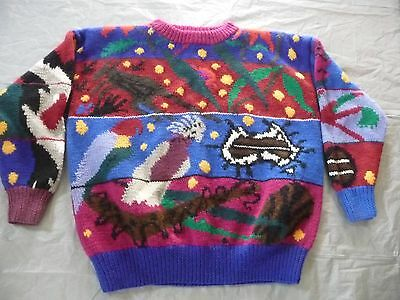 1980s Hand Knitted JENNY KEE 100% WOOL Australiana Design EXCELLENT CONDITION