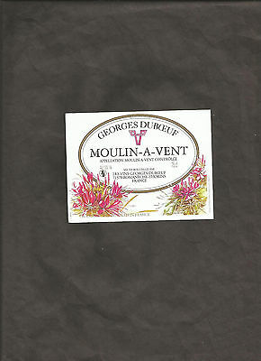 GEORGES DUBOEUF MOULIN A VENT 75 cl WINE BOTTLE LABEL