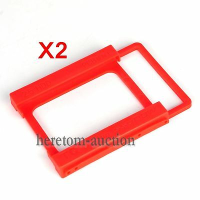 "2PCS 2.5"" to 3.5"" SSD HDD Adapter Mounting Tray Bracket Hard Drive Bay Caddy"