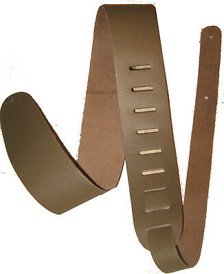 """2.5""""  Brown Leather Guitar Strap"""
