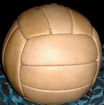 Vintage Style GENUINE LEATHER  VOLLEY BALL/Soccer ball, Perfect Present.