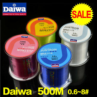 500M Super Strong Nylon Daiwa Fishing Line Durable Monofilament Lake Sea Lines