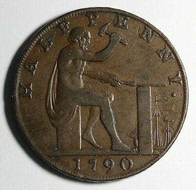 1790 UK Great Britain Conder Token Wilkinson Halfpenny  Warwickshire D&H 430
