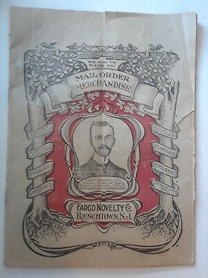 Antique 1909 Rare Vintage Fargo Novelty Catalog  Magic Gadgets Jokes Tricks