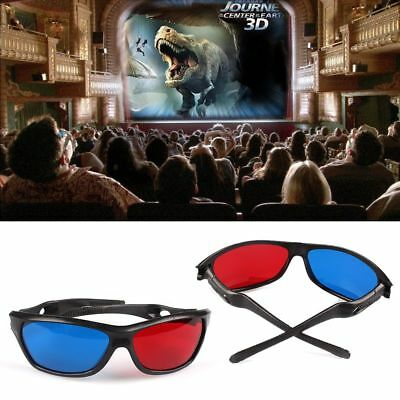 1x 3D-BRILLE CYAN ANAGLYPH ROT BLAU Brillen Anaglyph Glasses Kino REAL