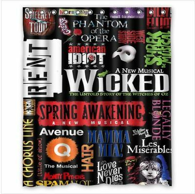 Broadway Musical Colage 2 Custom Shower Curtain 60x72