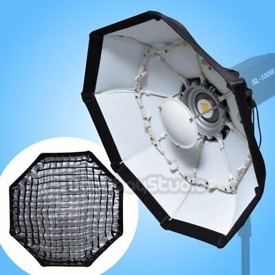 "70cm 27"" WHITE Collapsible Honeycomb Grid Beauty Dish Octagon Softbox for Bowens"