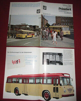 N°4093  / BUSSING : catalogue autocar Prasident deutsch text 1963