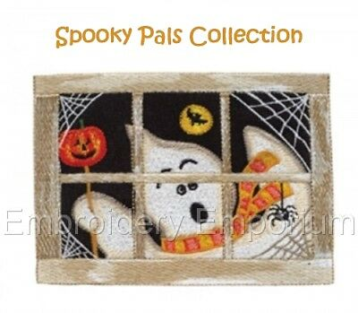 Spooky Pals Collection - Machine Embroidery Designs On Cd