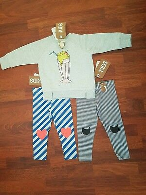 Cotton On Girls Size 1 Bundle BNWT Leggings & Jumper