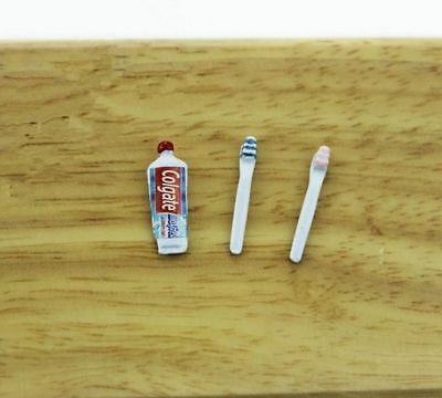 1:12 dollhouse miniature dollhouse accessories mini toothpaste&toothbrush 1#