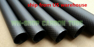 29mm OD X 27mm ID X 500MM Carbon Fiber Tube 3K/Tubing Suit for RC Plane 29*27-H