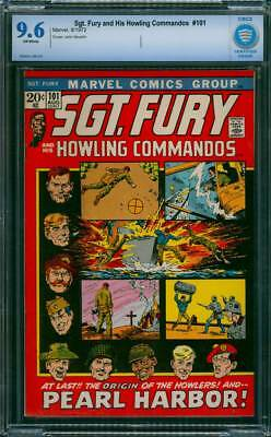 Sgt. Fury # 101  Origin of the Howlers  !  CBCS 9.6 scarce book !