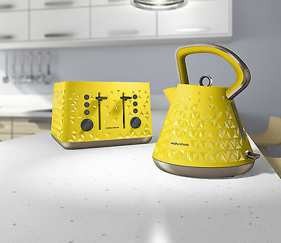 Morphy Richards Yellow Prism Kettle and Toaster Set