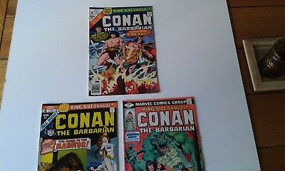 Conan the Barbarian Marvel Comics King Size Annual Issue 3, 4 and 5