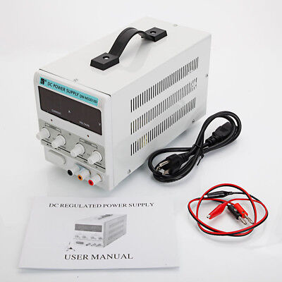 DC Power Supply 30V 10A Precision Variable Digital Lab Adjustable With Cable