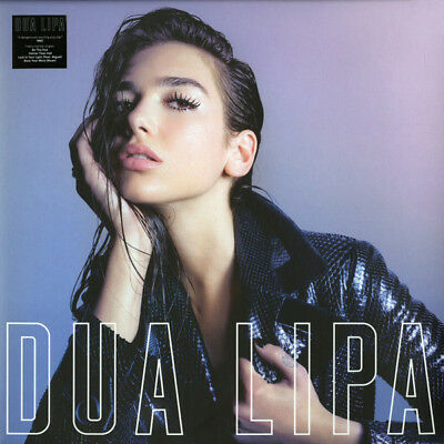 Dua Lipa Dua Lipa Hand Signed Autographed Special Lp Pink Marbled Vinyl Sealed !