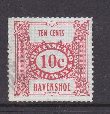 *QLD RAILWAY PARCEL STAMP. 10c RED.RAVENSHOE.Used.1970's era.*