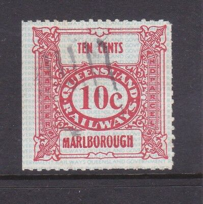 *QLD RAILWAY PARCEL STAMP. 10c RED.MARLBOROUGH.Used.1970's era.*