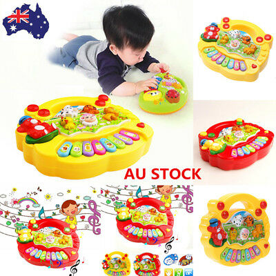 Kids Baby Animal Farm Musical Educational Piano Developmental Music Toys Gifts
