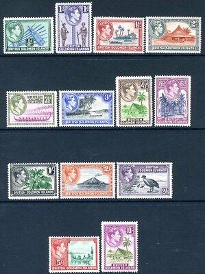 BRITISH SOLOMON ISLANDS-1939 Definitive Set of 13 Values Sg 60-72  MOUNTED MINT