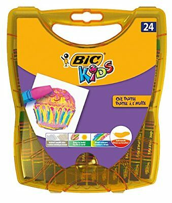 Bic Kids Ölmalkreide Oil Pastels 24 Pencil Box