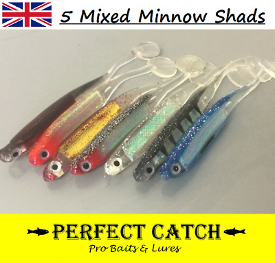 Soft Plastic Shad Fishing Bait Lure Drop Shot Plug Swimbait Grub Worm Bass Trout