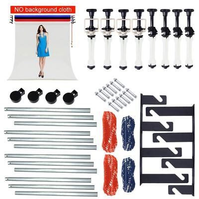 4 Roller Wall Ceiling Mount Manual Background Support System + 4PCS 3M Crossbar