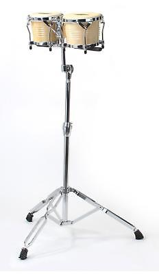 Percussion Bongo Drum Set Support Stand Adjustable 95-130cm