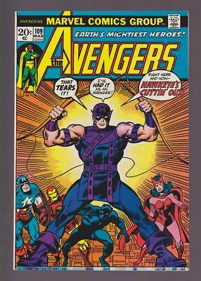 Avengers # 109  Hawkeye's Cutting Out !  grade 8.5 scarce book !