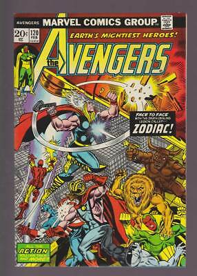 Avengers # 120  Face to Face with the Zodiac !  grade 9.0 scarce book !