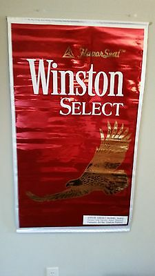 Winston Cigarettes Hanging Wrap Silk Material Banner, Winston Eagle New!