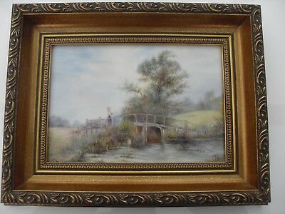 Royal Worcester Plaque Of A Rustic Country Scene Signed A Badham Mint No Reserve