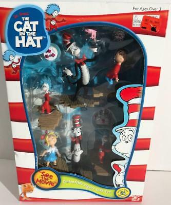 Dr Seuss Cat In The Hat Collectible Figure Gift Set 45600 2003 NIB