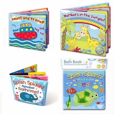 Baby Bath Books Plastic Coated Floating Soft Fun Educational Toys For Children
