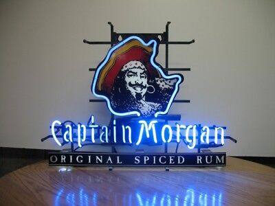 New Captain Morgan Rum Bar Gift Lamp Neon Light Sign 19''X15""