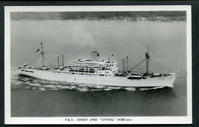 """Rppc C1950S Aerial Vu Of P&o Orient Liner """"chitral"""""""