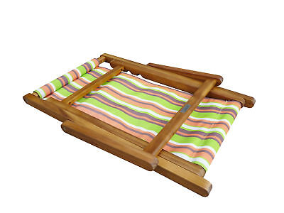 NEW High Quality Wooden Frame Children's Baby Beach Chair, 3 Seating Positions